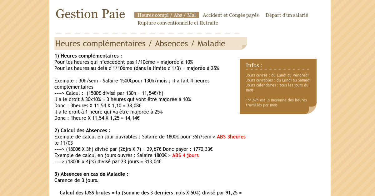 Gestion Paie Accident Et Conges Payes